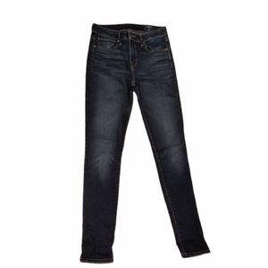 Wmn's VINCE Dark Blue Distressed Jeans (Size 25)